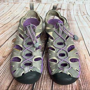 Keen Newport H2 Waterproof Gray Purple Sandals 8